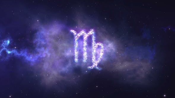 Thumbnail for Zodiac Sign Virgo Forming From the Stars with Space Background