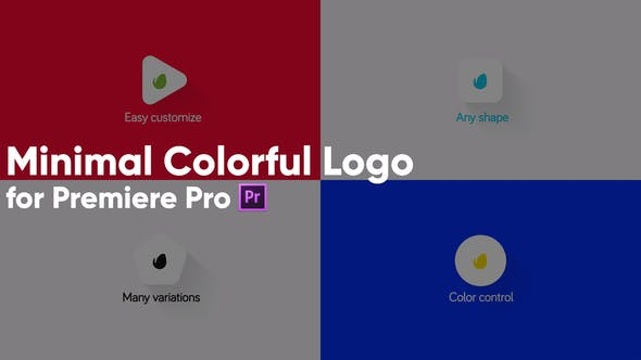Thumbnail for Minimal Colorful Logo for Premiere Pro