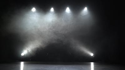 Stage Lights Square Smoke Background