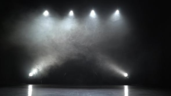 Thumbnail for Stage Lights Square Smoke Background