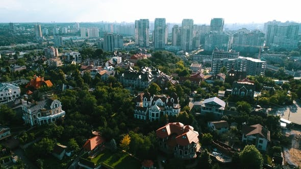Thumbnail for Aerial View Suburban Residential Neighborhood