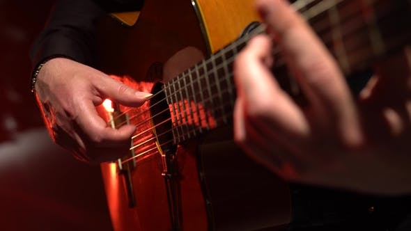 Guitar Play a Melody Man