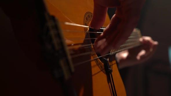 Thumbnail for Guitar Men's Fingers Touch the Strings.