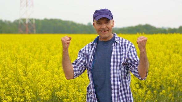 Thumbnail for Successful Farmer on Rape Seed Field