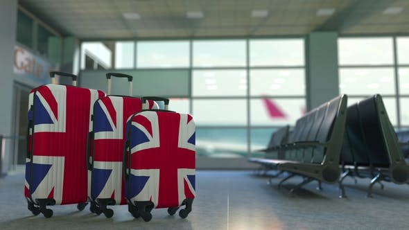 Thumbnail for Travel Suitcases Featuring Flag of Great Britain