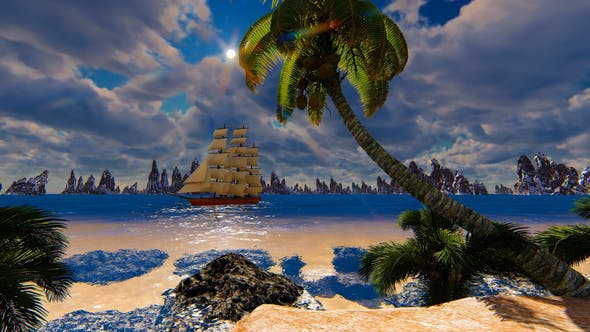 Thumbnail for Sailing Ship And The Beach