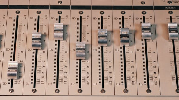 Interface of Equipment for Sound Processing. Fader