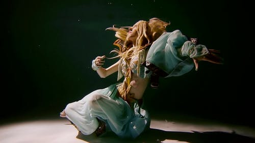 Lovely Elf Is Posing Underwater