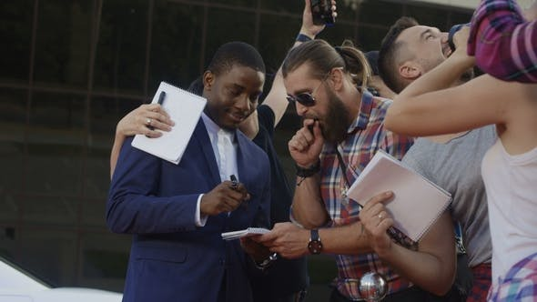 Thumbnail for Famous Ethnic Actor Giving Autographs