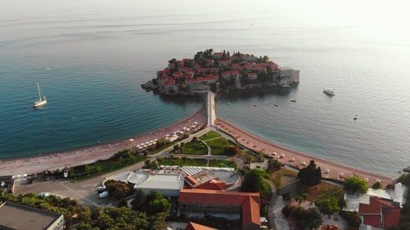 Thumbnail for Aerial View Over Sveti Stefan, Montenegro