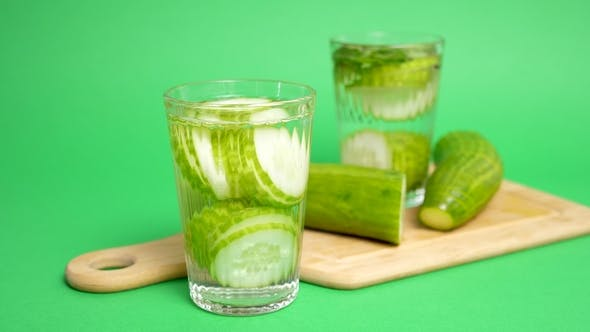 Thumbnail for Glass with Infused Cucumber Water