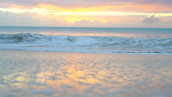 Thumbnail for Amazing Beautiful Sunset on an Exotic Caribbean Beach