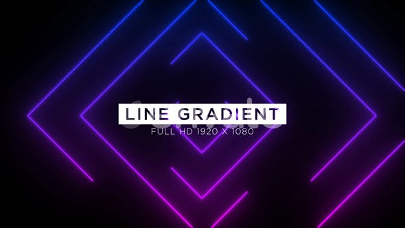 Thumbnail for Line Gradient VJ Loops Background