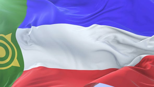 Khakassia Flag Waving