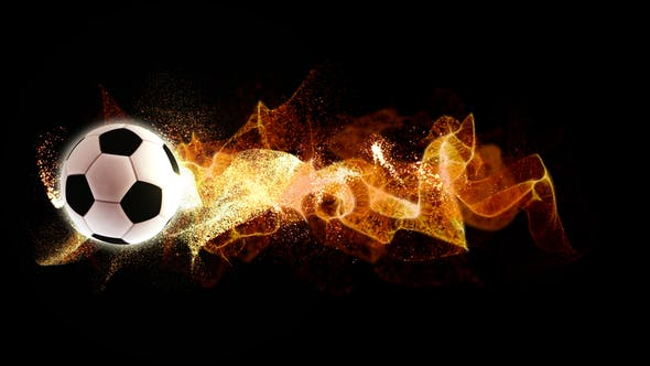 Thumbnail for Spinning Football with Flowing Fire Particles