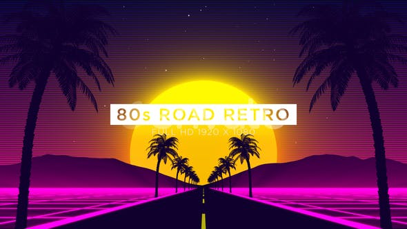 Thumbnail for 80s Road Retro VJ Loops Background