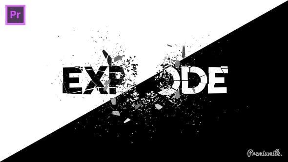 Explode Essential Graphics   Mogrt