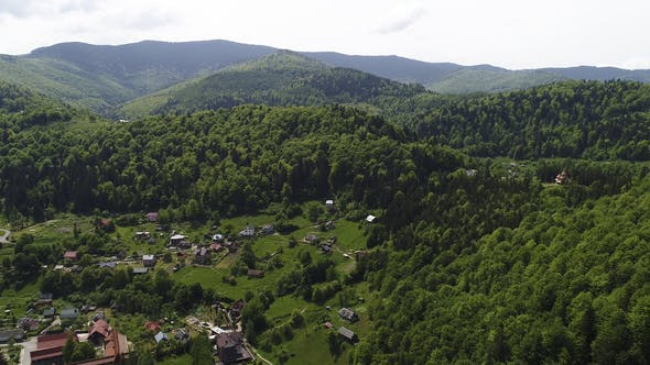 Thumbnail for Aerial View of Carpathian Mountains in Summer