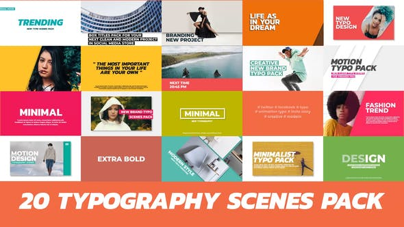 Thumbnail for 20 Trendy Typography Scenes