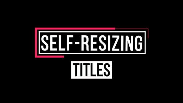 Self-Resizing Titles