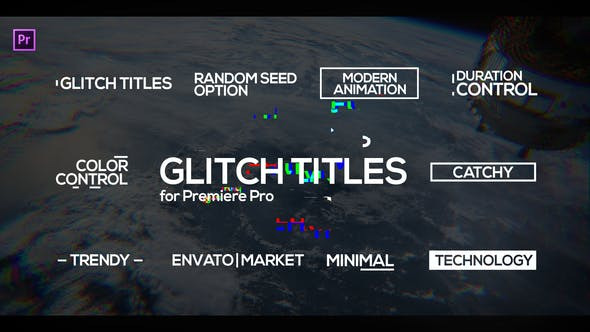 Thumbnail for Digital Glitch Titles for Premiere Pro | Essential Graphics