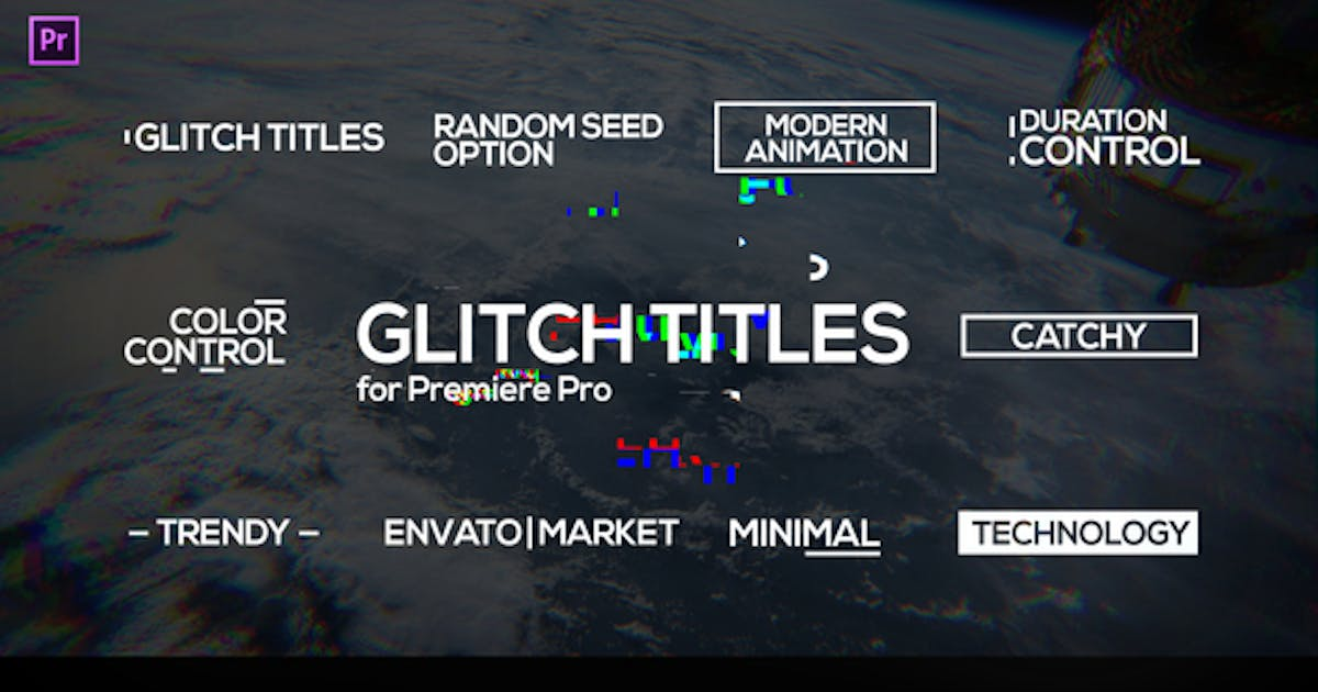Download Glitch Titles for Premiere Pro | Essential Graphics by motionshape