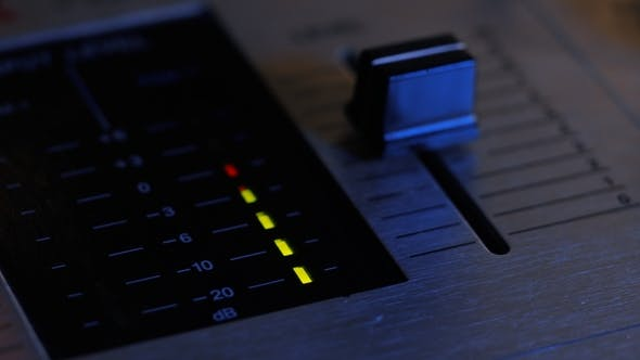 Thumbnail for Recording Studio Production. Man Working on Professional Digital Video Channel Mixer in Studio
