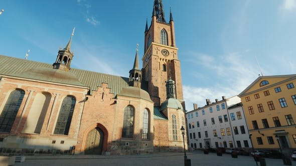 Thumbnail for Famous Church with an Metal Spire in Stockholm Riddarholmen Church