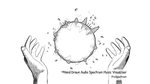 Thumbnail for Handgezeichneter Audio -Spektrum-Musik-Visualisierer