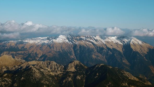 Thumbnail for Picturesque Aerial View of Mountain Range