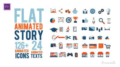 Flat Animated Story Essential Graphics | Mogrt