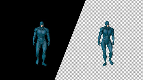 Thumbnail for Super Hero With Blue Suit