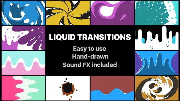 Thumbnail for Pack Transitions Liquid Motion | After Effects