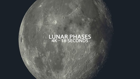 Thumbnail for Lunar Phases in 4K