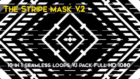 Thumbnail for The Stripe Mask V.2 Vj Loops Pack