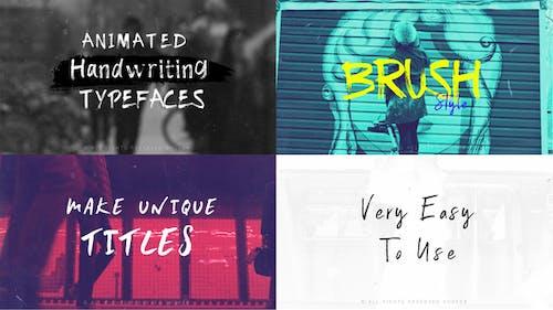 Brush-Animated Handwritten Typefaces
