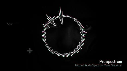 Glitched Audio Spectrum Music Visualizer