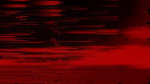 Unique Design Red Glitch