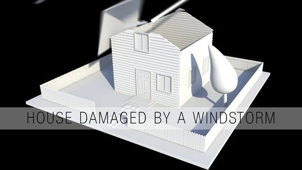 Thumbnail for House Damaged By A Windstorm