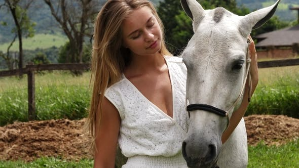 Beauty Bonding with Horse