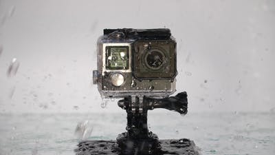 Action Camera Under Rain