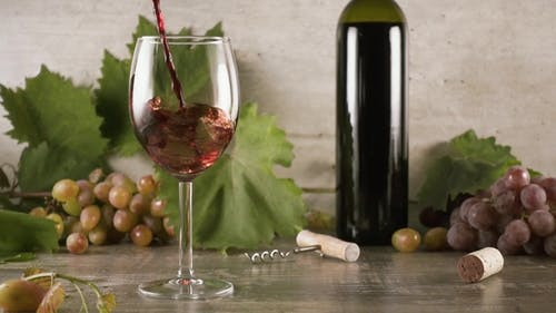 Wine Is Beautiful To Pour Into a Glass of Still Life