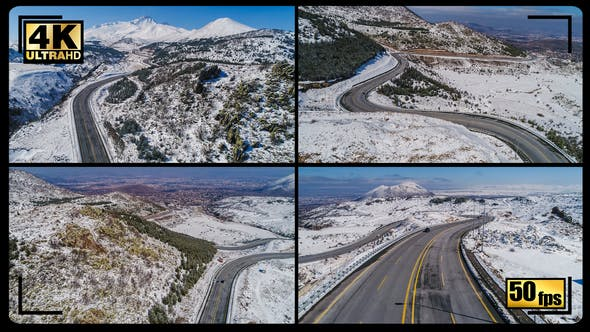 Thumbnail for Winter High Hill Mountains Road