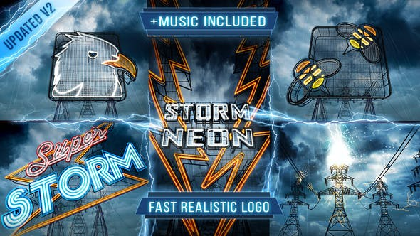 Thumbnail for Neon Storm Logo Intro