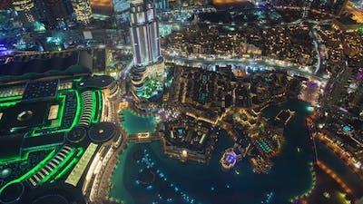 Downtown Dubai Aerial Panorama