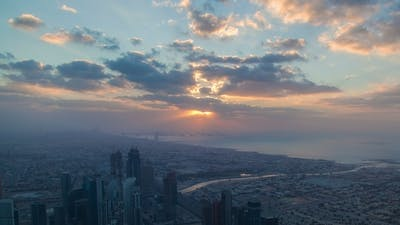 Dubai Sunset Skyline