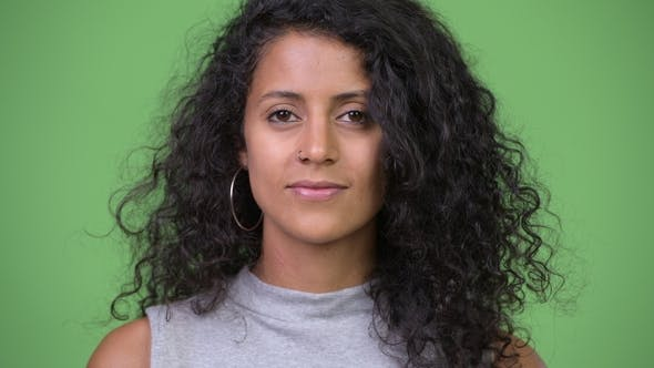 Thumbnail for Young Hispanic Woman with Curly Hair