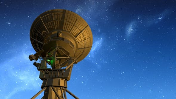 Thumbnail for Radio Telescope Observes Starry Sky