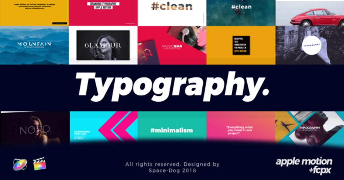 Download Typography | FCPX & Apple Motion by Space-Dog