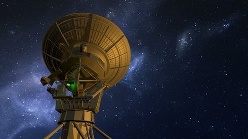 Radio Telescope Explores Night Sky
